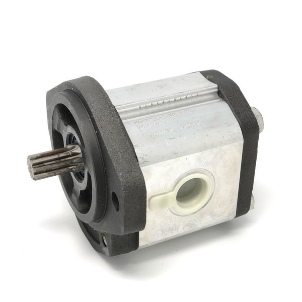 "GHP2A-D-34-S1 : Marzocchi Gear Pump, CW, 23.7cc (1.4457in3), 11.27 GPM, 3335psi, 2000 RPM, #12 SAE (3/4"") In, #10 SAE (5/8"") Out, Splined Shaft 9T 16/32DP, SAE A 2-Bolt Mount"