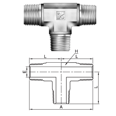 "IMT-6N : Superlok 3/8"" Male NPT Tee"