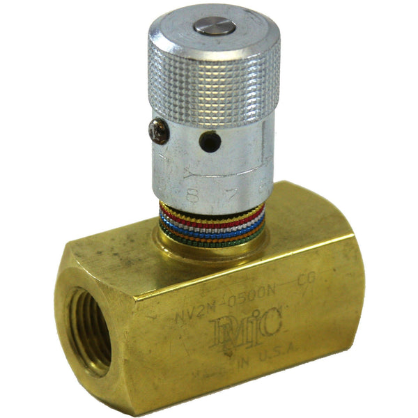 "NV2M-0750N : DMIC Bidirectional Needle Valve, No Check, 3/4"" NPT, Brass, 2000psi"
