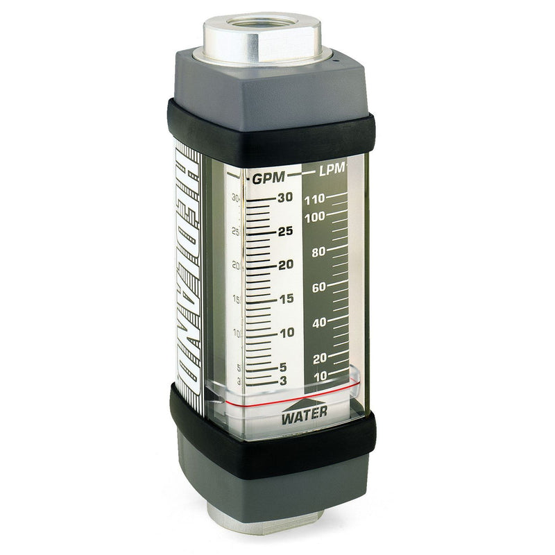 H744X-002 : Hedland 5000psi 316SS Flow Meter for Caustic or Corrosive Liquids, 1 NPT, 0.2 to 2.0 GPM