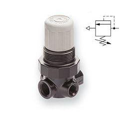 V07-200-NNEA : Norgren V07 Series, pressure relief valve, 1/4 PTF ports, adjustable relief pressure 4 to 50PSI, without gauge