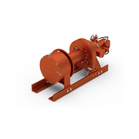 "45BDX1L1D : DP Winch, 45,000lb Bare Drum Pull, 36"" Formed Base only, No Kickout, CCW, More than 25GPM Motor, 7.5"" Barrel x 16.34"" Length x 17.5"" Flange"