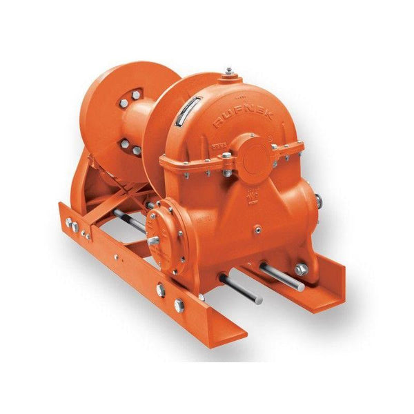 "RN100WHRFOA3 : Tulsa Winch Rufnek-Series Worm Gear, 100,000 lbs Bare Drum Pull, 7 fpm Line Speed, 52,972 lbs Full Drum Pull, 14 fpm Full Line Speed, 7/8"" - 487ft Capacity, Air Clutch, 40 GPM Hydraulic Motor"