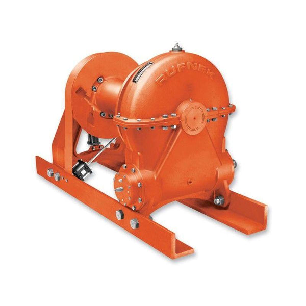 RN130WMRFOAX : Tulsa Winch Rufnek-Series Worm Gear, 130,000 lbs Bare Drum Pull, 16 fpm Line Speed, 68,962 lbs Full Drum Pull, 29 fpm Full Line Speed, N/A Capacity, Air Clutch, No Hydraulic Motor