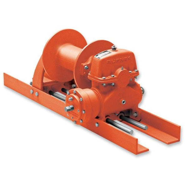 "RN15WMRFOMX : Tulsa Winch Rufnek-Series Worm Gear, 15,000 lbs Bare Drum Pull, 17 fpm Line Speed, 8,989 lbs Full Drum Pull, 30 fpm Full Line Speed, 7/16"" - 269ft Capacity, Mechanical Clutch, No Hydraulic Motor"