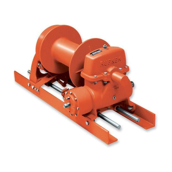 "RN20WMRFOMX : Tulsa Winch Rufnek-Series Worm Gear, 20,000 lbs Bare Drum Pull, 24 fpm Line Speed, 11,965 lbs Full Drum Pull, 41 fpm Full Line Speed, 1/2"" - 386ft Capacity, Mechanical Clutch, No Hydraulic Motor"