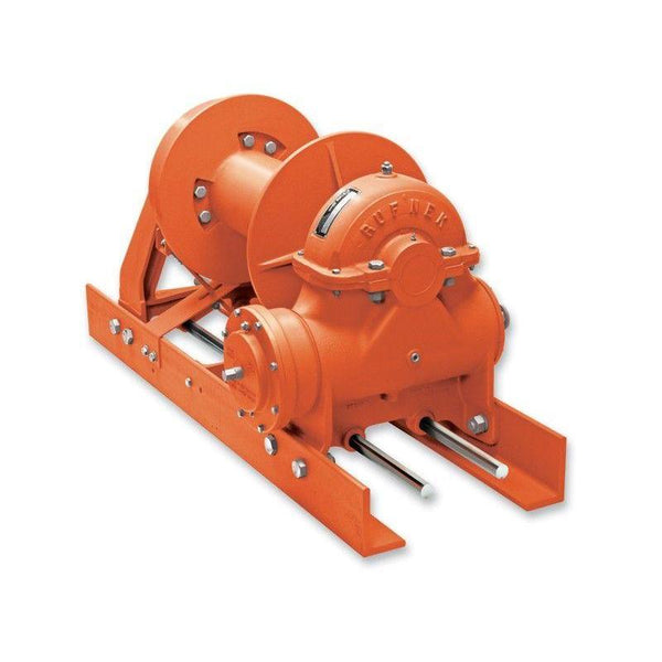 "RN45WHRFOM3 : Tulsa Winch Rufnek-Series Worm Gear, 45,000 lbs Bare Drum Pull, 20 fpm Line Speed, 25,163 lbs Full Drum Pull, 35 fpm Full Line Speed, 3/4"" - 442ft Capacity, Mechanical Clutch, 40 GPM Hydraulic Motor"