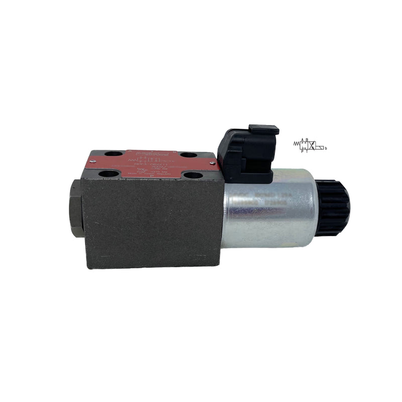 RPE3-062C11/02400E12A : Argo Hytos Directional Control Valve, D03 (NG6), 21GPM, 5100psi, 2P4W, 24 VDC, Deutsch, Spring Return, Tandem Spool Neutral, Coil Side B
