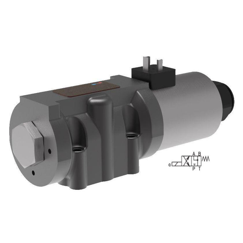 RPE4-102Y51/01200E1 : Argo DCV, D03, 21GPM, 5100psi, 2P4W, 12 VDC, DIN, Spring Return, PA, BT Neutral