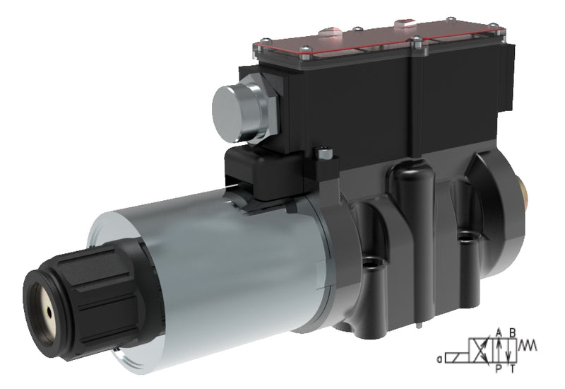 RPEW4-102R11/02400EW1K51 : Argo DCV, D05, 37GPM, 5100psi, 2P4W, 120 VAC, Wiring Box, Spring Return, PA and BT Neutral