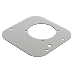 RVPT-3 : Magnaloy Reservoir Lid Cover Plate, Vertical Econo Series, 7GA, with Filler Breather & 56C Motor Cutout