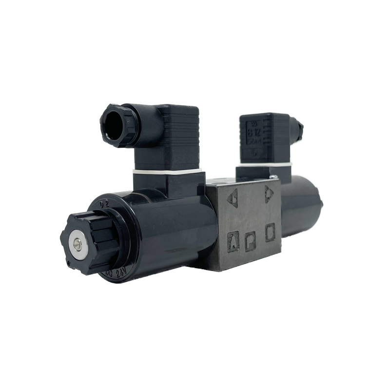 SA-G01-C7Y-D2-E31 : Nachi Solenoid Valve, 3P4W, D03 (NG6), 13.2GPM, 5075psi, P to T with A & B Blocked in Neutral, 24 VDC, DIN