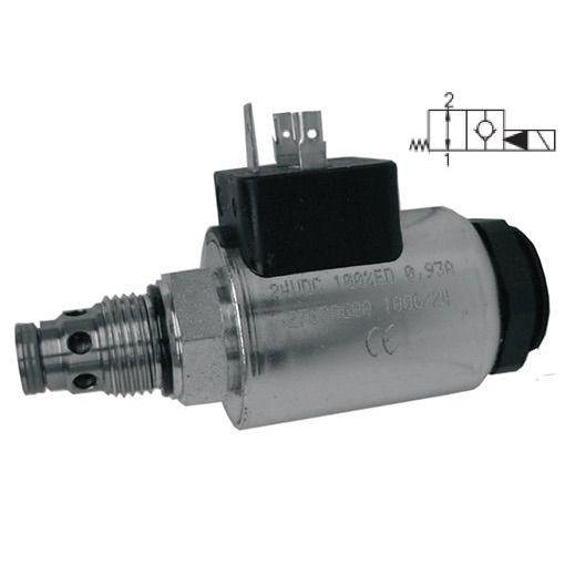 SD3E-A2/H2O2A-24DIN : Argo DCV, 8GPM, 5100psi, 2P2W, C-8-2, 24 VDC DIN, Flow 1 to 2 Neutral