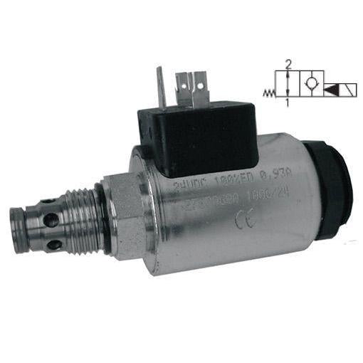 SD3E-A2/H2O2A-12DIN : Argo DCV, 8GPM, 5100psi, 2P2W, C-8-2, 12 VDC DIN, Flow 1 to 2 Neutral