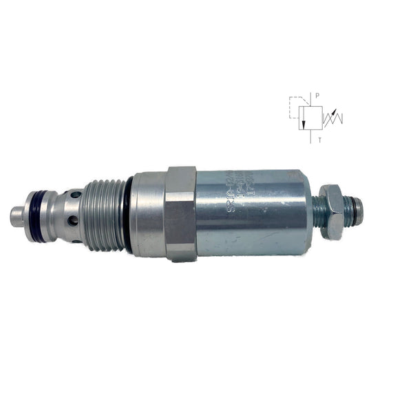 SR1A-B2/H6S-A : Argo Pressure Relief Valve, Poppet Type, Direct Acting, 16 GPM, 6100psi, Allen Key Screw, Adjustable Up to 910psi, Fits C-10-2 Cavity