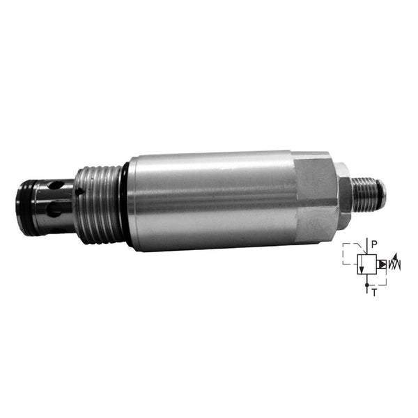 SR4A-B2/H35S-A : Argo Pressure Relief Valve, Spool Type, Pilot-Operated, 26 GPM, 5100psi, Allen Key Screw, Adjustable Up to 5080psi, C-10-2 Cavity