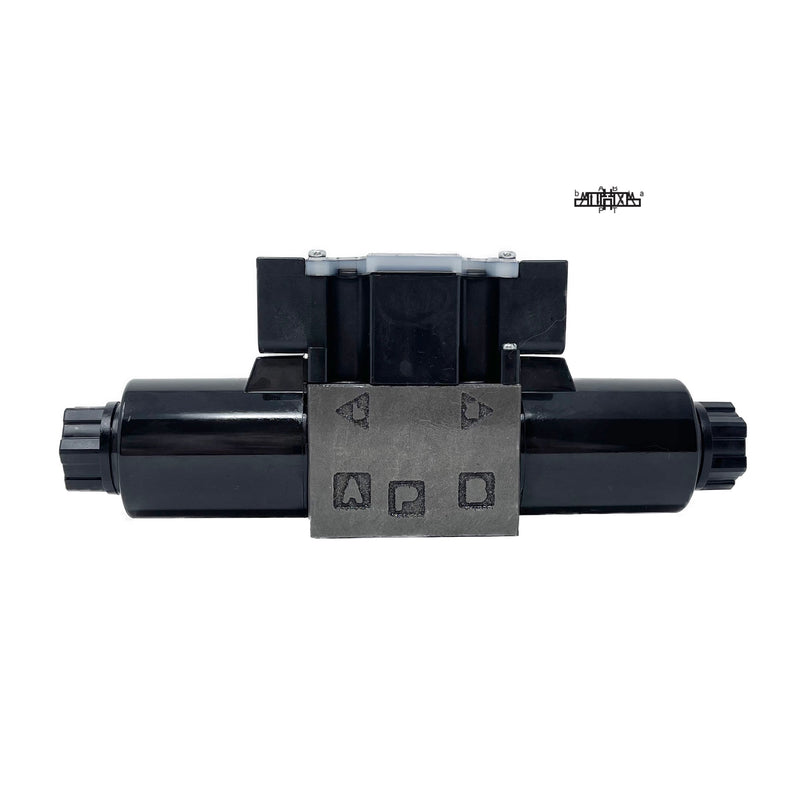 SS-G01-C7Y-R-D2-E31 : Nachi Solenoid Valve, 3P4W, D03 (NG6), 13.2GPM, 5075psi, P to T with A & B Blocked in Neutral, 24 VDC, Wiring Box with Lights