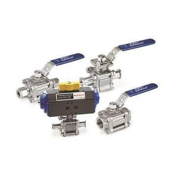 "SWB3203-S-16-O : Superlok Ball Valve, Swing Out, 1"" Tube O.D, Oval Handle, 2200psi Swing-Out , 316SS"