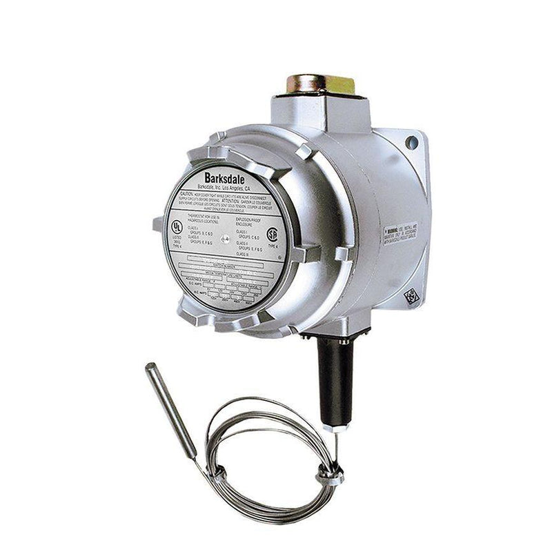 T1X-H351 : Barksdale Explosion Proof Temperature Switch, Not Hermetically Sealed, Remote Bulb & Capillary, SPDT (Single-Pole, Do