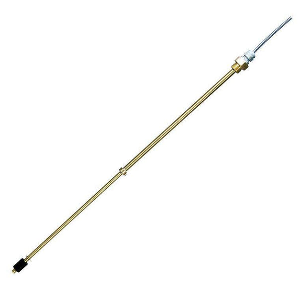 0112-1110 : Barksdale Telescopic Level & Temperature Switch, SPST (Single-Pole, Single-Throw), Brass, 1 NPT, 13.98 to 24.02 Probe