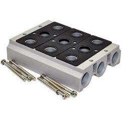 V52S503 : Norgren V5x Series 3 station manifold for 3/8 NPT ports