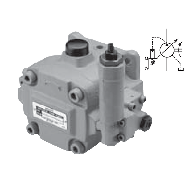 VDR-1A-1A3-13 : Nachi VDR Variable Volume Vane Pump, cc, Foot Mount, GPM, 435 to 1015psi
