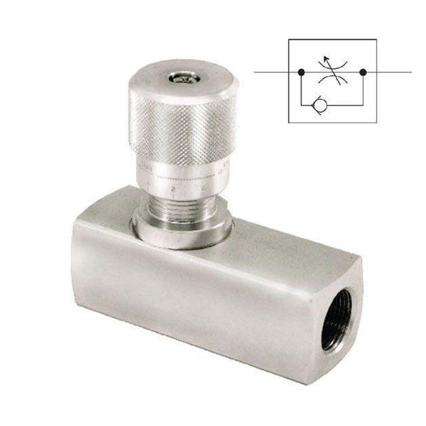 "FN3/8-1 : AFP Flow Control, 3/8"" NPT, 5700psi and 8GPM rated, Steel"