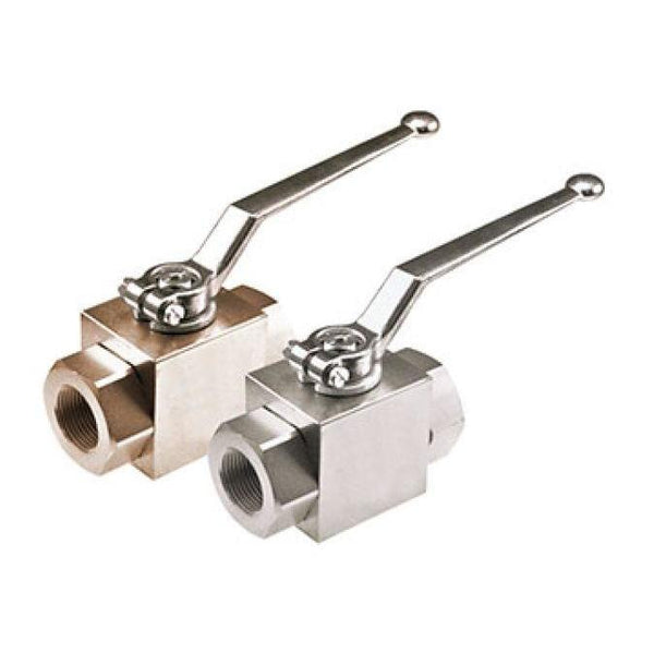AE2S#12-11DB : Anchor Fluid Power Two-Way Block Body Threaded Ball Valve, 5800psi rated, Carbon Steel, #12 SAE (3/4)