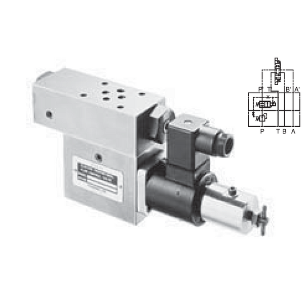 EOF-G01-P25-11 : Nachi D03 Modular Electro-Hydraulic Proportional Flow Control Valve, Flow Rate Control Port P, Meter-In