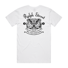 "Load image into Gallery viewer, ""Ralph Street Logo"" White T-Shirt - Imprint Merch - Official Merchandise - Print On Demand Austraila"