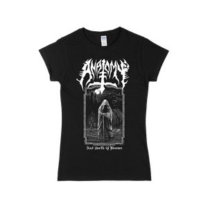 "Front design of Anatomy Womens Black T-Shirt ""And Death is Forever"" Imprint Merch - Imprint Merch - E-commerce"