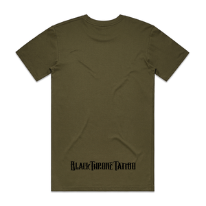 """Upside Down Cross"" Army T-Shirt - Imprint Merch"