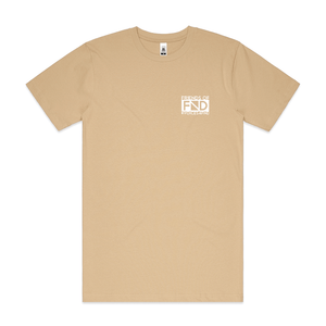 """Friends Of FND"" Unisex Tan T-Shirt - Imprint Merch - Official Merchandise - Print On Demand Austraila"