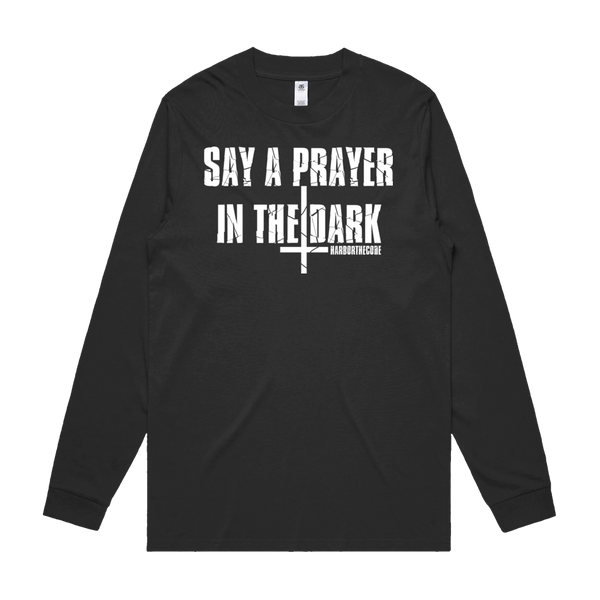 Front design of Harbor The Code Mens Black Long Sleeve