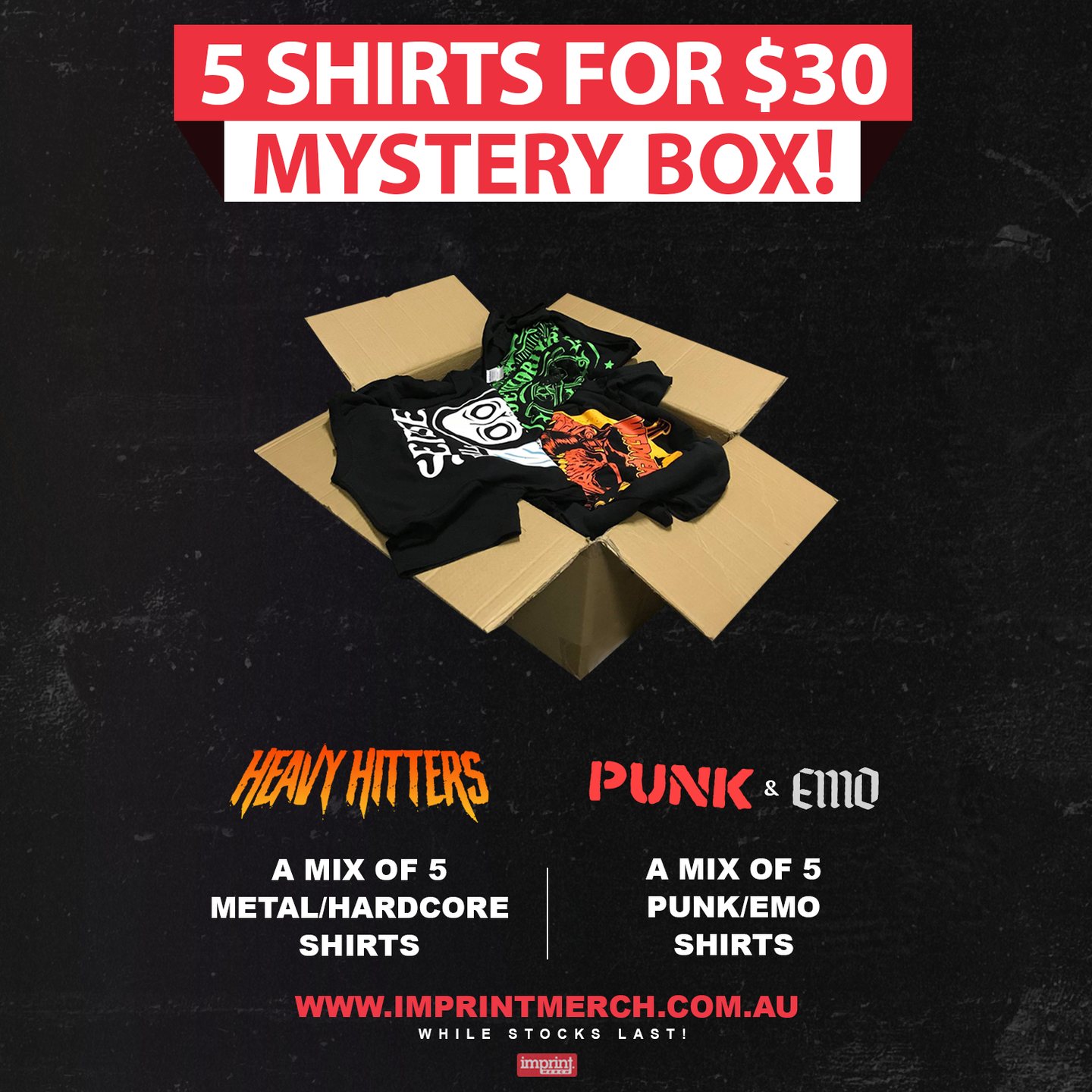 Mystery Box - 5 Shirts For $30
