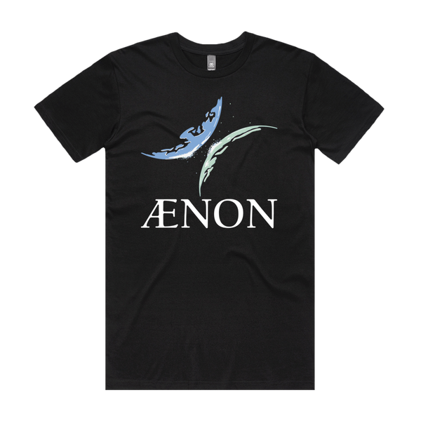 Front design of Aenon Mens Black T-Shirt