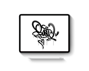 Graffiti Brush Set for iPad Pro Procreate App