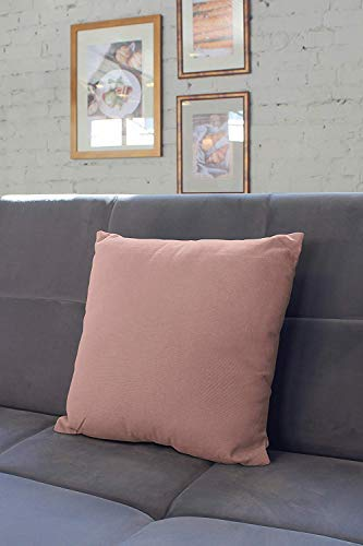 20 x 20 inch Solid Dyed Cotton Canvas Square Accent Decorative Pillow Case for Couch Sofa Chair Bed /& Home Deep Red Encasa Homes Throw Cushion Cover 2pc Set