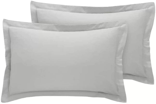 Precious Star Linen 500 Thread Count Super Soft 2pc Pillow Case Solid Travel/Toddler/Baby Pillow case Size (12'' x 16'') Hidden Zipper Closure Egyptian Cotton (Silver Grey Solid)