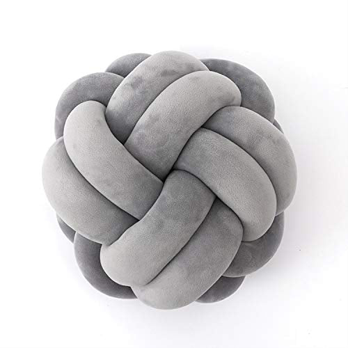 FLORAVOGUE Knot Pillow Home Decorative Cushion - Modern Home Sofa Decor Pillows Pillow (Light Gray)