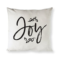 The Cotton & Canvas Co. Deer Antler Christmas, Holiday Home Decor Pillow Cover, Pillowcase, Cushion Cover and Decorative Throw Pillow Case (Natural Color, Not White)