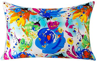 MEILIS 100% Mulberry Toddler Silk Pillow Cases for Kids Solid Printed Hypoallergenic Pillowcase for Kindergarten(14 x 20inch)