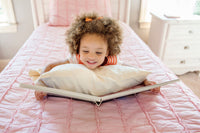 Toddler Pillowcase - 100% Super-Soft Organic Cotton, Luxurious Sateen Weave - Handmade in The USA, Healthy and Safe for a Baby's Sensitive Skin