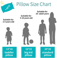 Lofe Toddler Pillow with Pillowcase 13x18, Organic Cotton Shell with Zipper, Adjustable Loft, Natural Un-Bleached Tan