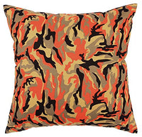 "TangDepot174; Camouflage Throw Pillow Cover, Camo Pillow Cases - 100% Cotton Canvas, Handmade - Many Colors & Sizes Avaliable - (12""x20"", C07 Red Camo)"