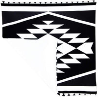 BreezyLife Aztec Throw Pillow Cover Black and White Decorative Pillow Case Tribal Accent Pillow for Sofa Couch Farmhouse Cottage Outdoor (18x18)