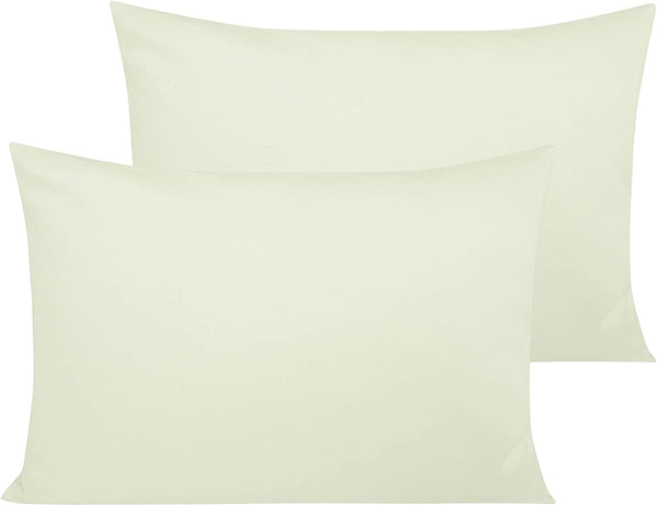 NTBAY 500 Thread Count Cotton Toddler Pillowcases, 2 Pack Travel Pillow Cases, 13 x 18 Inches, Ivory