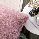 MIULEE Pack of 2 Decorative Pink Faux Fur Throw Pillow Covers Super Soft Faux Feather Pillow Cases Luxious Cushion Covers for Sofa Bedroom 18x18 Inch 45x45 cm