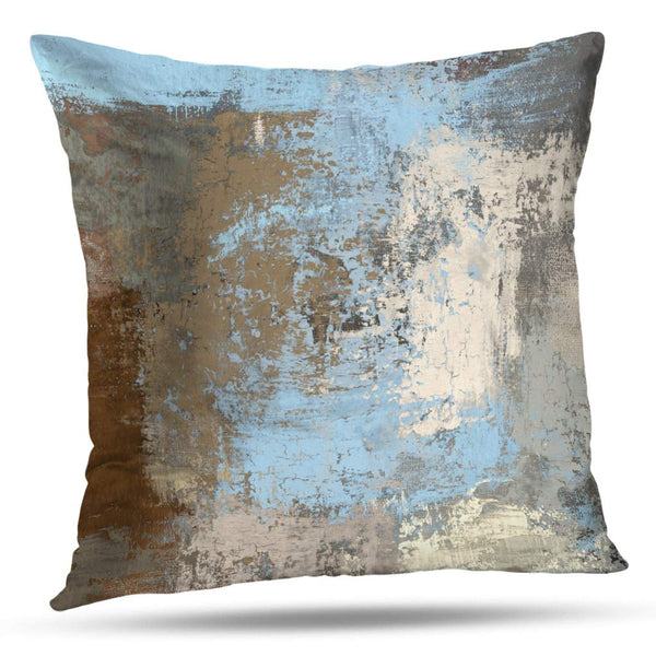 ONELZ Throw Pillow Covers, Oil Painting Canvas Abstract Art Texture Colorful Modern Artwork Double-Sided Cushion Cover 18 x 18 inch Decorative Home Gift Bed Pillowcase