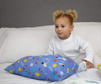 PharMeDoc Toddler Pillow for Kids 14 x 19 inch - No Pillowcase Needed - Machine Washable